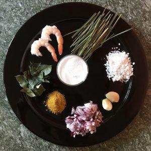ingredienti per zuppa gamberi