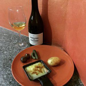 Raclette  con vino bianco