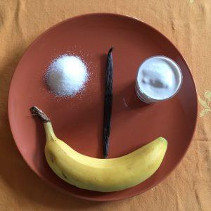 zutaten für Bananen glacé