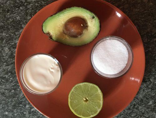 zutaten für avocado-glacé