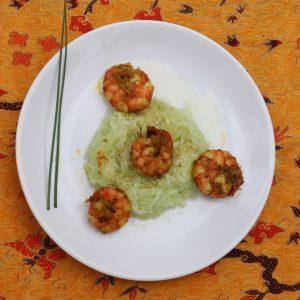 insalata con gamberetti al Nasi Goreng