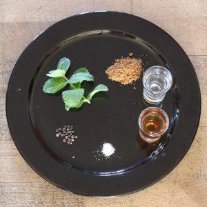 ingredienti per salsa alla menta