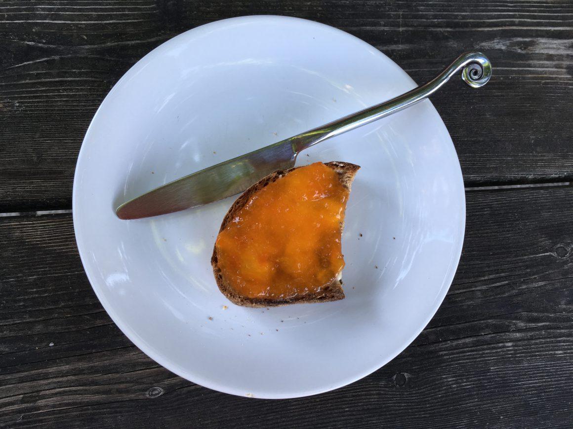pane con marmellata albicocche