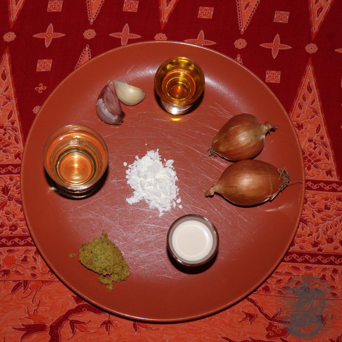 ingredienti per salsa alla panna con zafferano