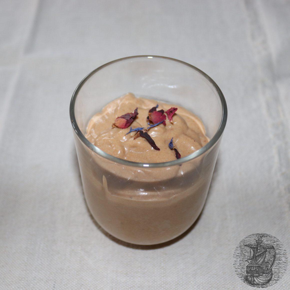 Crema al Rooibos nel bicchiere