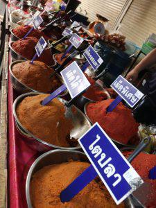 Curry paste auf dem Markt