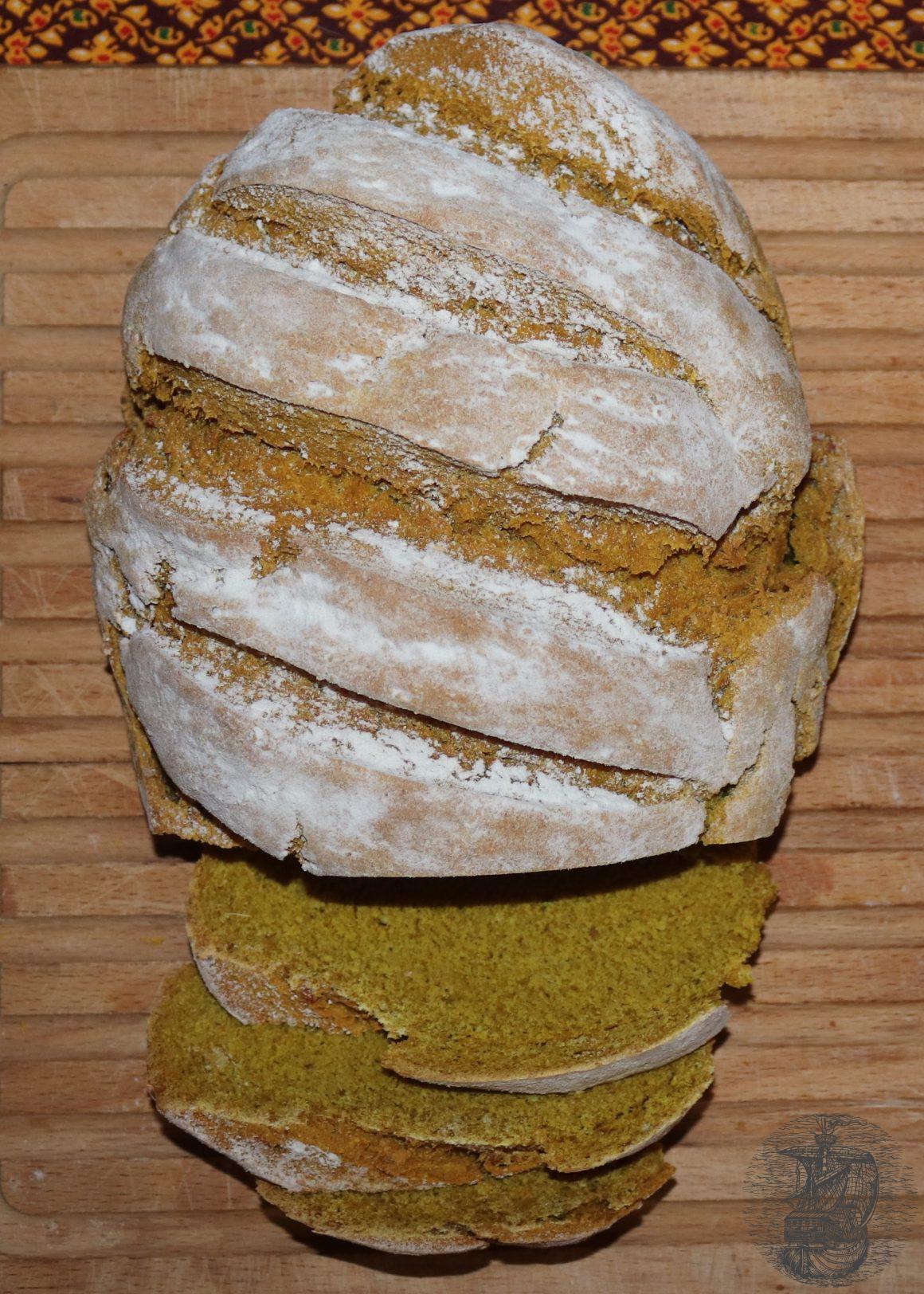 Turmeric bread