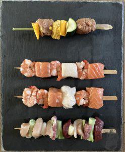 Spiedini per la griglia pesce