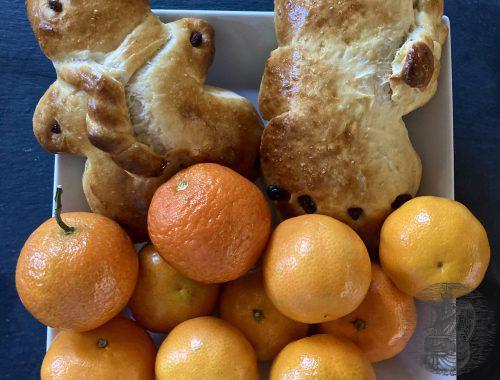 Grittibänz mit mandarinen