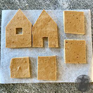 Lebkuchen-Haus Einzelteile