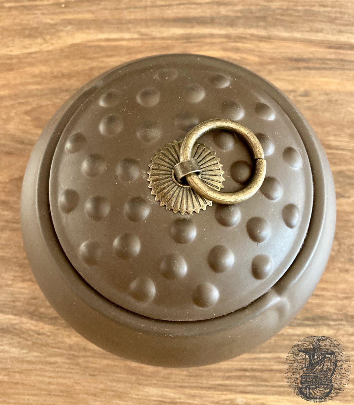 contenitore per tè in terra cotta