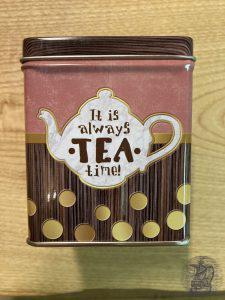Tee-Dose aus Metall