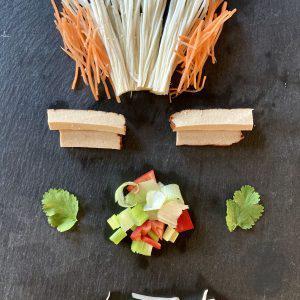 Involtini di primavera, ingredienti